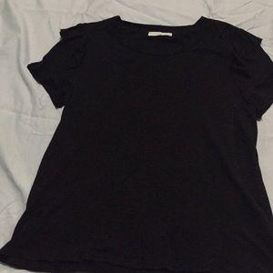 Lush black top NWOT